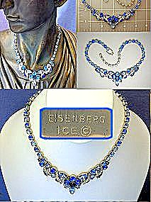 Eisenberg Ice Blue Crystal Necklace (Image1)