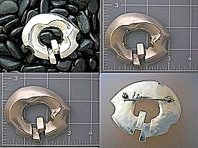 Sterling Silver Taxco Mexico Brooch 3 Inches (Image1)
