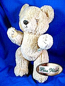 Pure Wool Teddy bear, jointed arms and legs. (Image1)
