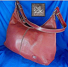 Sak Red Leather Hobo  Bag (Image1)