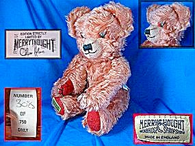 Merrythought Teddy Bear Oliver Holmes England