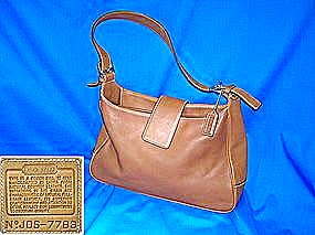 Coach Tan Leather Handbag