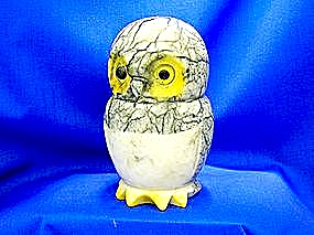 Hand carved alabaster OWL - made in Italy (Image1)