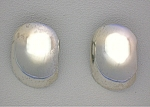 Click to view larger image of Sterling Silver Large Clip Earrings Thailand (Image1)