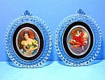 Click here to enlarge image and see more about item 0102200802: Picture 2 Frames Glass with Velvet Mount Cameo
