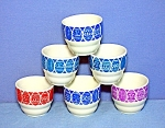 Click to view larger image of Egg Cups SET of 6 made in Finland Original Box (Image1)
