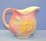 Click here to enlarge image and see more about item 0102200818: HULL Sun Glow Glazed Pint Pitcher  Roses.