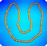 ANTIQUE  BUTTERSCOTCH AMBER BEAD NECKLACE