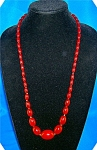 Click here to enlarge image and see more about item 0103200713: Antique CARNELIAN Graduated Bead Necklace