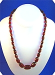 Click to view larger image of Necklace Rare CHERRY AMBER Faceted 20 Inch (Image1)