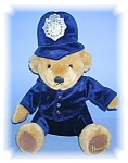 Click here to enlarge image and see more about item 0105200658: English 12 Inch Harrods  Police Teddy Bear