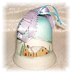 Click here to enlarge image and see more about item 0105200676: Pottery Bell Handpainted 1985 Signed