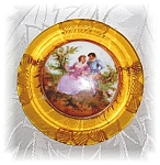 Click to view larger image of Applejuice Bakelite Handpainted Porcelain  Cameo (Image1)