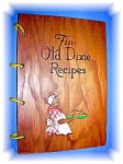 Click here to enlarge image and see more about item 0105200695: Black Memorabilia Fine Old Dixie Recipes Wood Jacket
