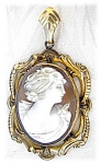 Click to view larger image of Fabulous Cameo Mourning Picture/Hair Locket (Image1)