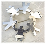 Click to view larger image of Sterling Silver Circle of Children Brooch Mex (Image1)