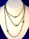 Silver Vintage Muff Chain Necklace