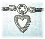 Leather & Silvertone BRIGHTON Heart Necklace and Beads