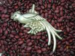 Click to view larger image of Mexico Silver 4 3/4 Inch Plumed Bird Brooch (Image2)