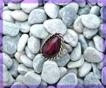 Click to view larger image of Purple Agate Sterling Silver Ring Signed TEX (Image7)