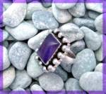 Click to view larger image of Amethyst Pearl Sterling Silver Ring (Image7)