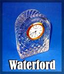 Waterford Domed Clock, Crystal,  Made in Ireland