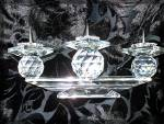 Click to view larger image of Swarovski Crystal Triple Candle Holder - Pin Style (Image6)