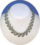 Click to view larger image of Silver Leaves Necklace England (Image1)