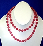 Click to view larger image of Rose Quartz 32 Inch Hand Knotted 9mm Bead Necklace (Image1)