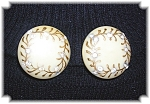 Click to view larger image of Bakelite & Rhinestone Clip Earrings (Image1)