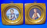 PAIR WOOD Picture frames - ARRON BROS. CO. . .