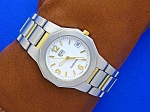 Movado Movement ESQ Oceana Two Tone Wristwatch
