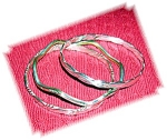 Click to view larger image of 3 Mexican Sterling Silver Bangle Bracelets (Image1)