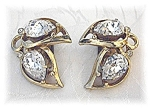 KRAMER Crystal and Gold Clip Earrings