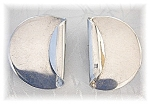 Click to view larger image of Sterling Silver Modernistic Clip Earrings Mexico (Image1)