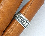 Ring American Indian Sterling Silver Ring Signed H