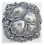 Click to view larger image of Fabulous & Huge Silver Pansy & Rose's Brooch (Image1)