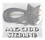 Adorable Sterling Silver Kitty Kat Pin/Brooch