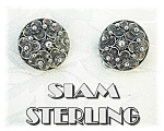 Vintage Sterling Silver Clip Earrings Siam