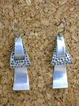 Click to view larger image of Signed Sterling Mexico TE-24 Dangly Pierced Earrings (Image6)