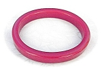 Click here to enlarge image and see more about item 0116200525: Brilliant  Red Plastic/Lucite Bangle Bracelet