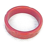 Click here to enlarge image and see more about item 0116200526: Bakelite Burnt Orange  Carved  Bangle