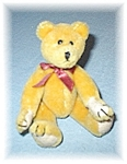 Click here to enlarge image and see more about item 0116200564: Boyds Golden Teddy Bear  6 inches tall 1990