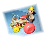 Click to view larger image of Fisher Price 61Farmer On Tractor Pull Toy (Image1)