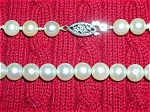 Cultured Pearl 6mm Pearl Necklace 10K Gold 15 1/4 inch