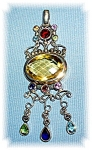 Click to view larger image of Sterling Silver Citrine Garnet Peridot B Topa (Image1)