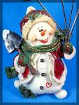 Click to view larger image of Snow Man Christmas Card holder (Image2)