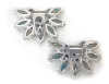 Click to view larger image of Dress Clips Emerald Clear Glass  Rhinestones   (Image2)