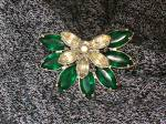 Click to view larger image of Dress Clips Emerald Clear Glass  Rhinestones   (Image5)
