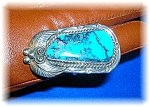 Click to view larger image of Native American Turquoise Sterling Silver Ring (Image1)